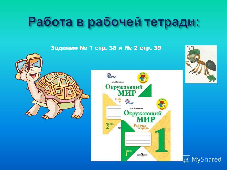 Задание 1 стр. 38 и 2 стр. 39