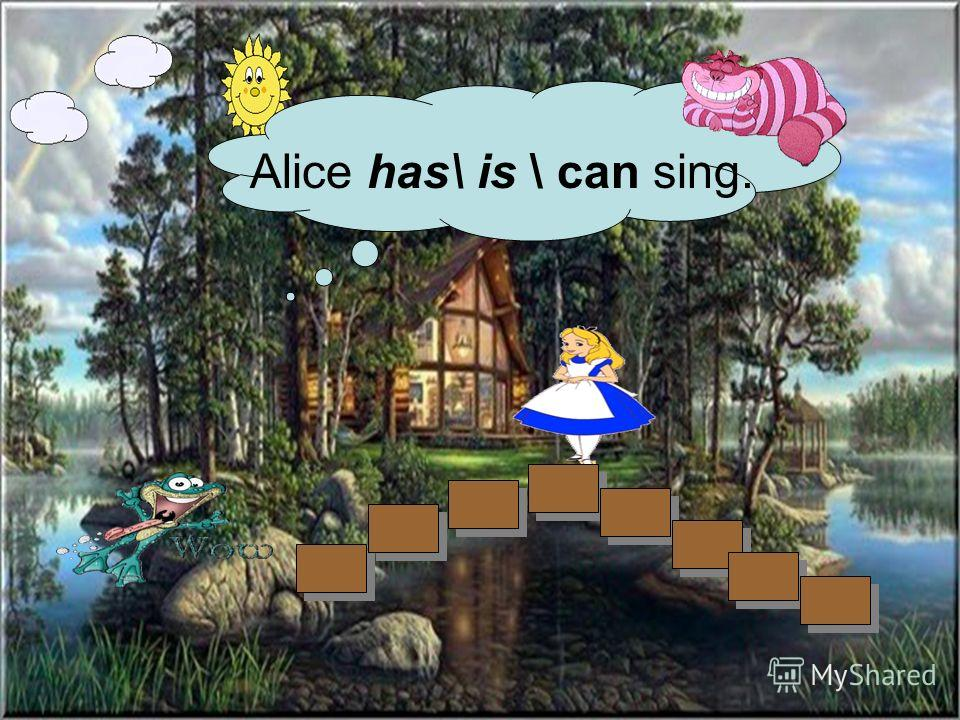Alice has\ is \ can sing.