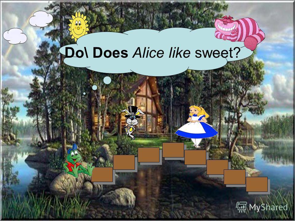 Do\ Does Alice like sweet?