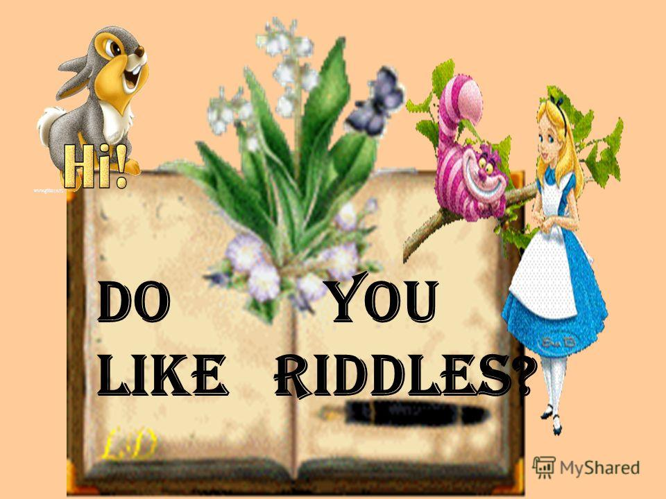DO You Like riddles?