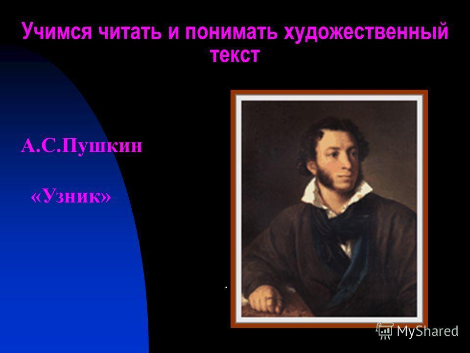 Учимся читать и понимать художественный текст. А.С.Пушкин «Узник»