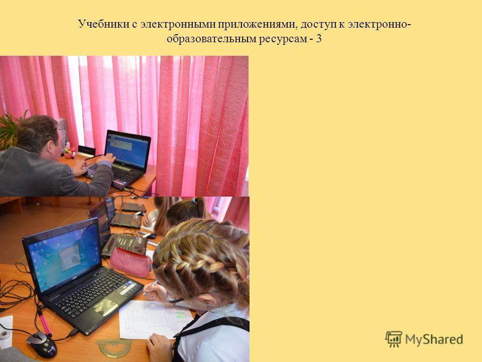Учебники с электронными приложениями, доступ к электронно- образовательным ресурсам - 3