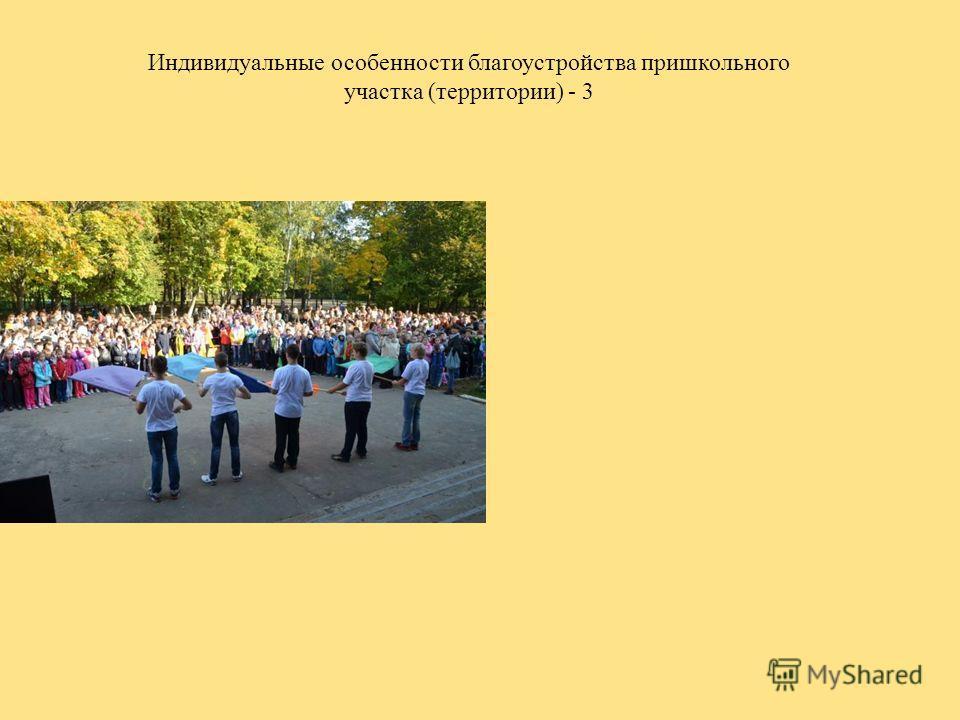 Индивидуальные особенности благоустройства пришкольного участка (территории) - 3