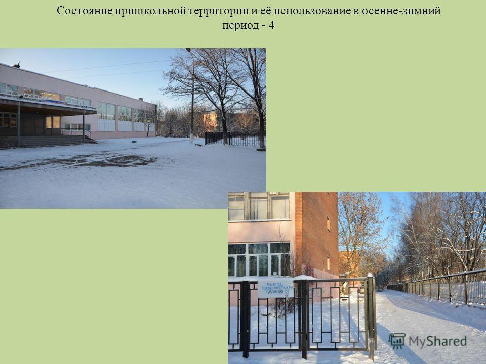 Состояние пришкольной территории и её использование в осенне-зимний период - 4