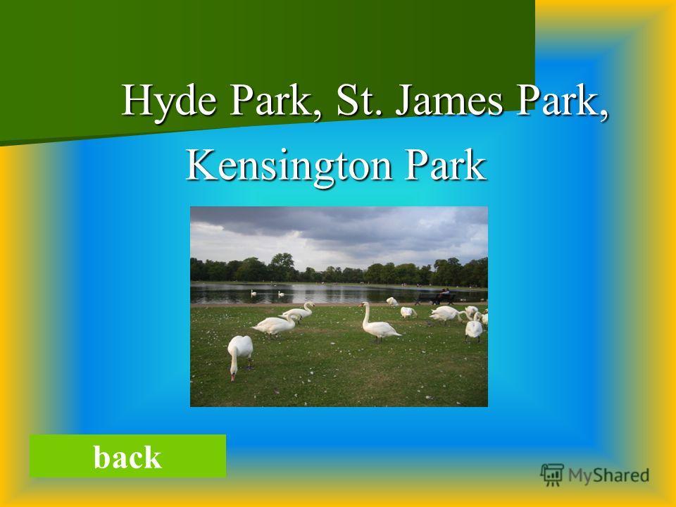 Hyde Park, St. James Park, Hyde Park, St. James Park, Kensington Park back