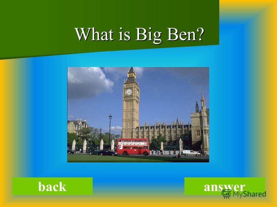 What is Big Ben? backanswer