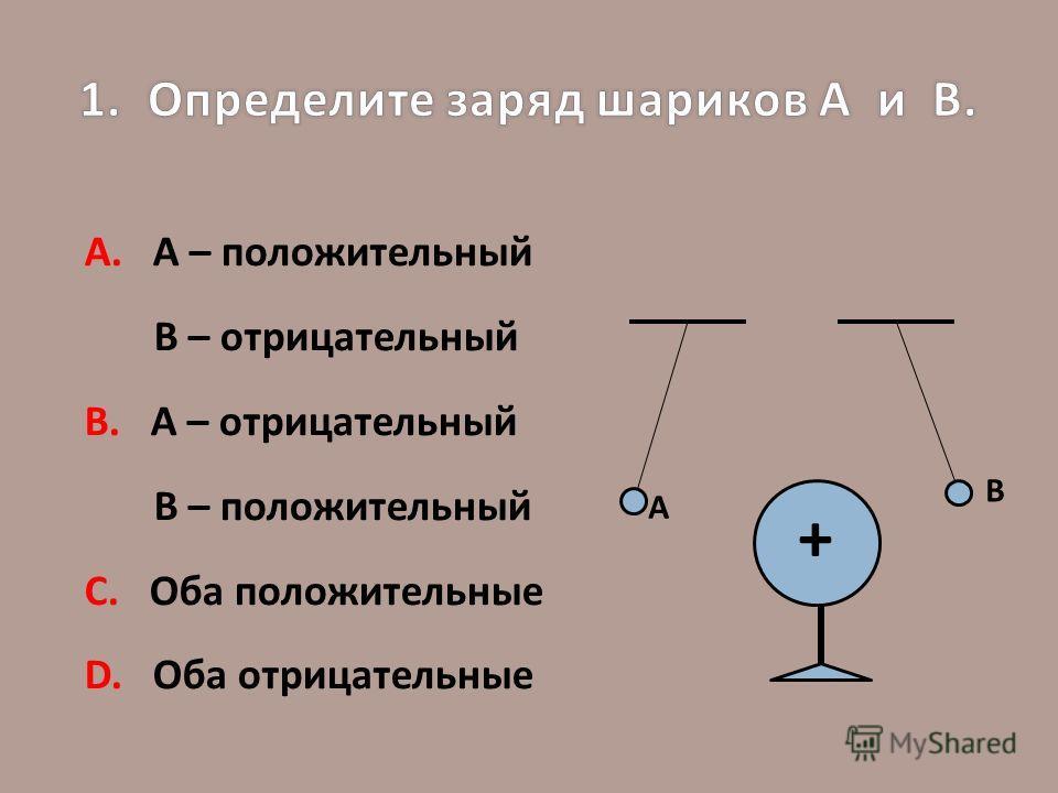 А. А – положительный В – отрицательный В. А – отрицательный В – положительный С. Оба положительные D. Оба отрицательные А В +