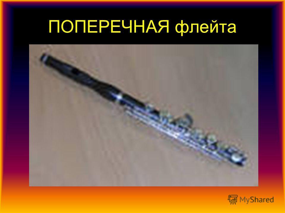 Блокфлейта Блокфлейта (продольная флейта) духовой инструмент, как правило, из дерева или пластика. Блокфлейту держат продольно, вдувая воздух в свисток с рассекающим воздух клином, расположенный на верхнем конце трубкиПоперечная флейта