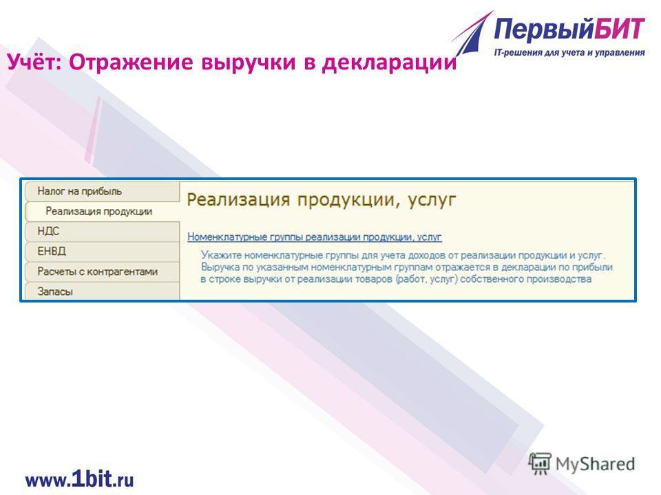 Учёт: Отражение выручки в декларации