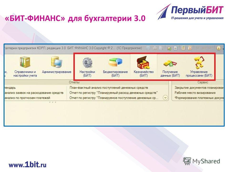 «БИТ-ФИНАНС» для бухгалтерии 3.0