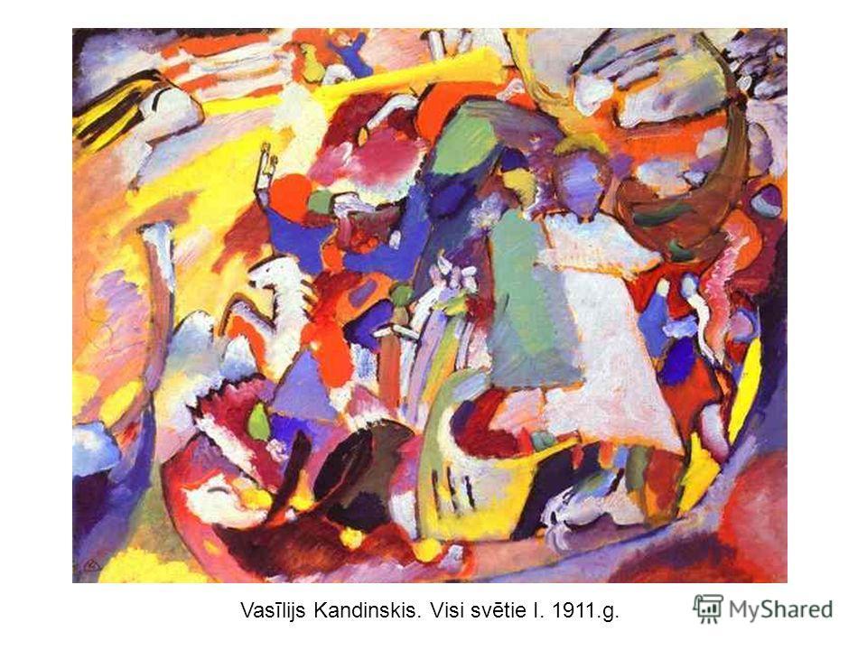 Vasīlijs Kandinskis. Visi svētie I. 1911.g.