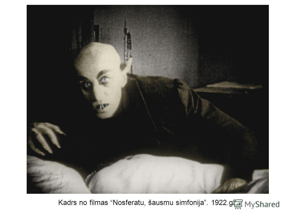 Kadrs no filmas Nosferatu, šausmu simfonija. 1922.g.