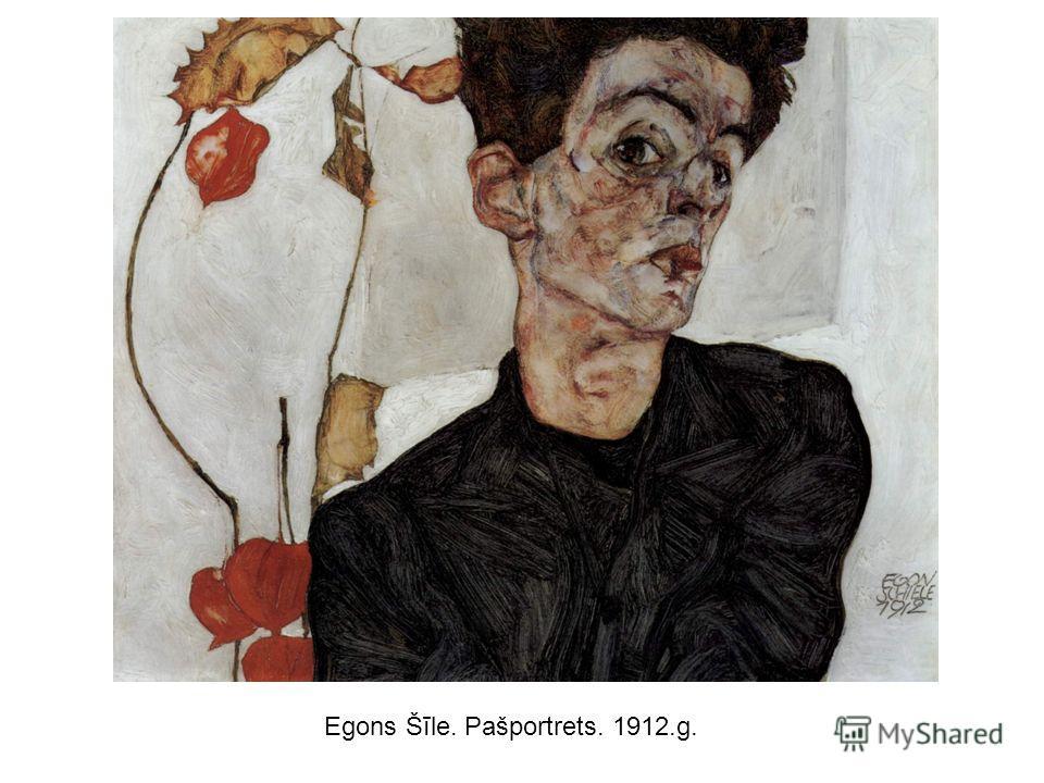 Egons Šīle. Pašportrets. 1912.g.