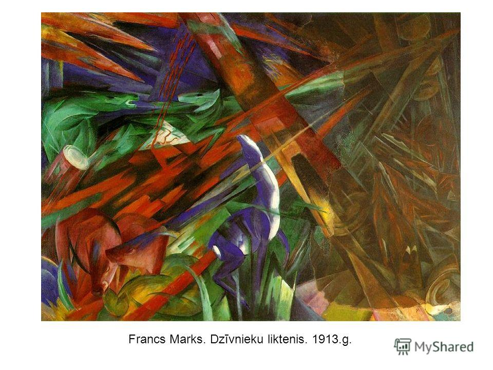 Francs Marks. Dzīvnieku liktenis. 1913.g.