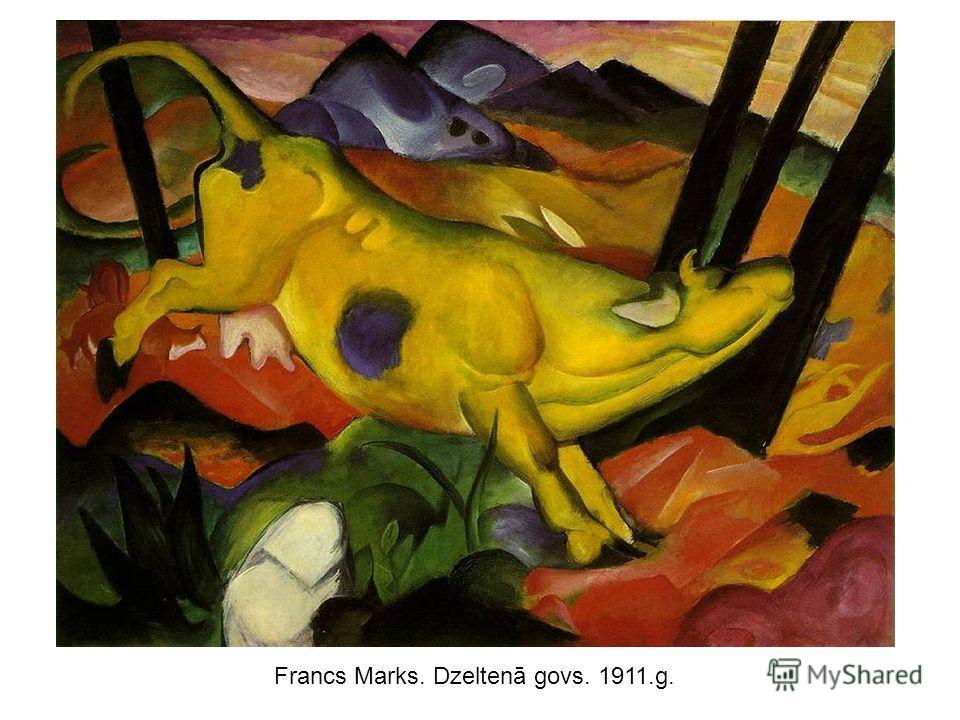 Francs Marks. Dzeltenā govs. 1911.g.