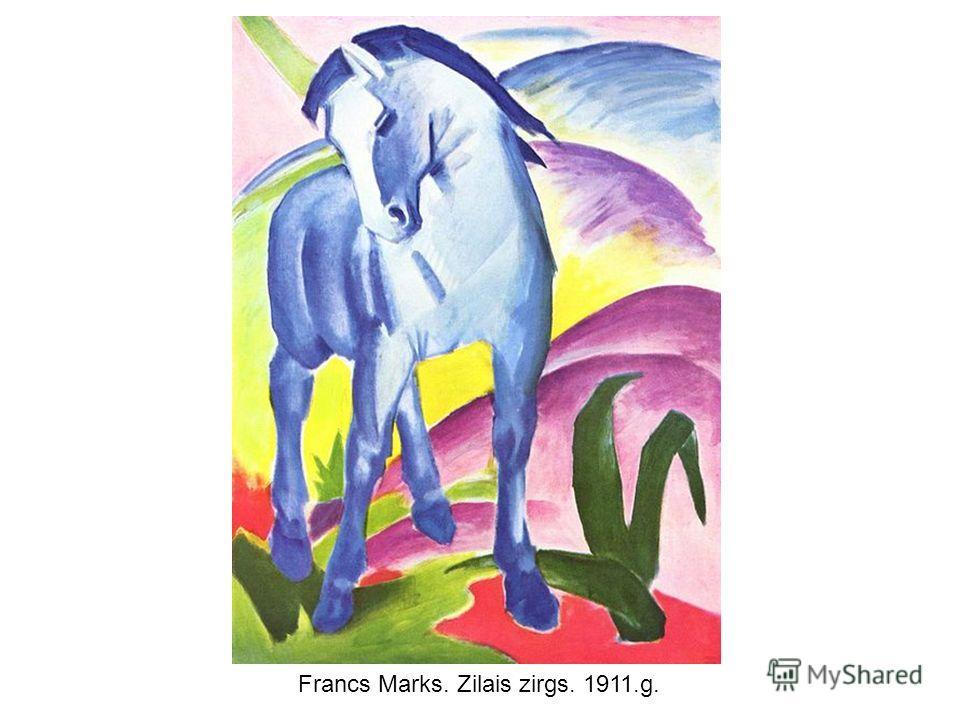 Francs Marks. Zilais zirgs. 1911.g.