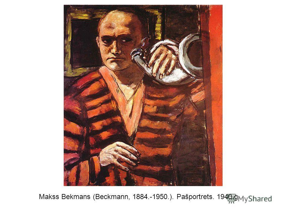 Makss Bekmans (Beckmann, 1884.-1950.). Pašportrets. 1940.g.
