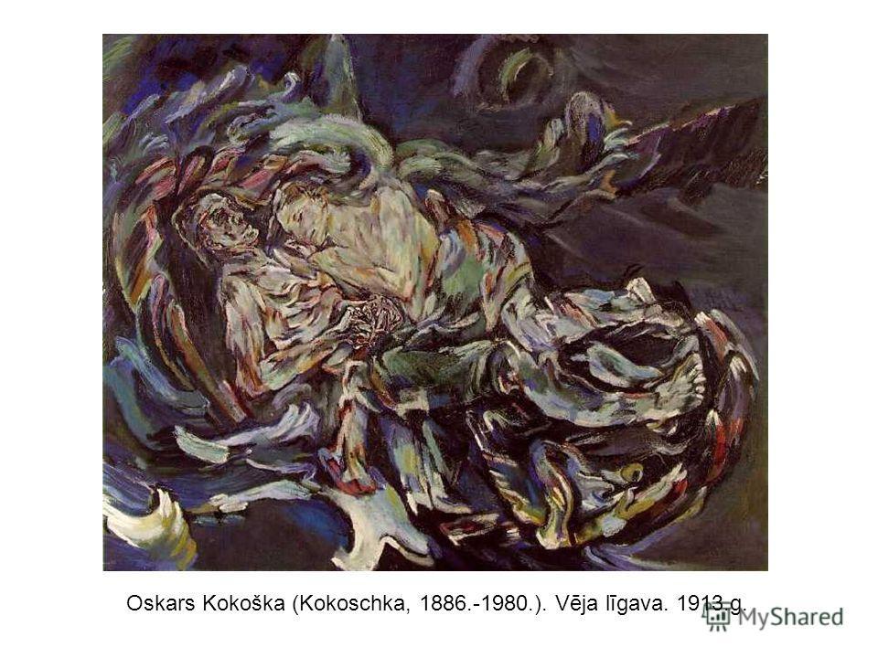 Oskars Kokoška (Kokoschka, 1886.-1980.). Vēja līgava. 1913.g.