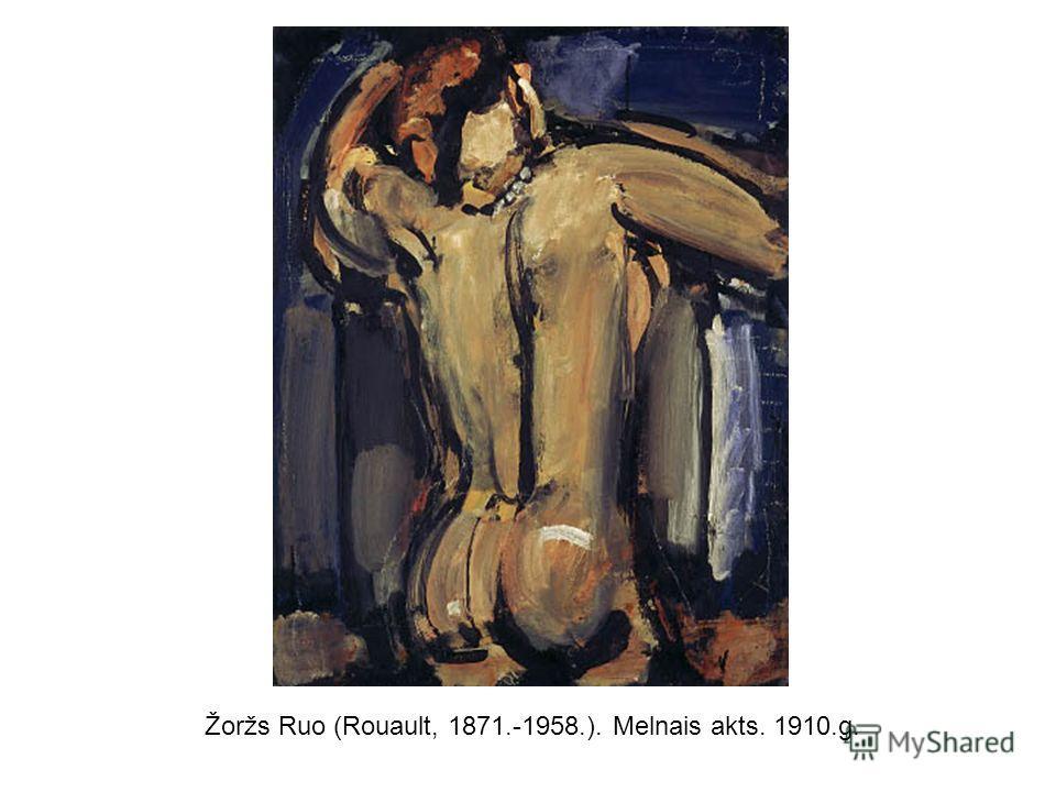 Žoržs Ruo (Rouault, 1871.-1958.). Melnais akts. 1910.g.