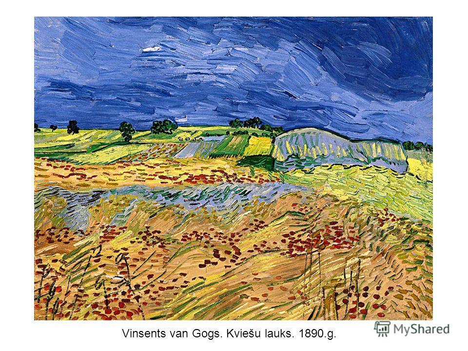 Vinsents van Gogs. Kviešu lauks. 1890.g.