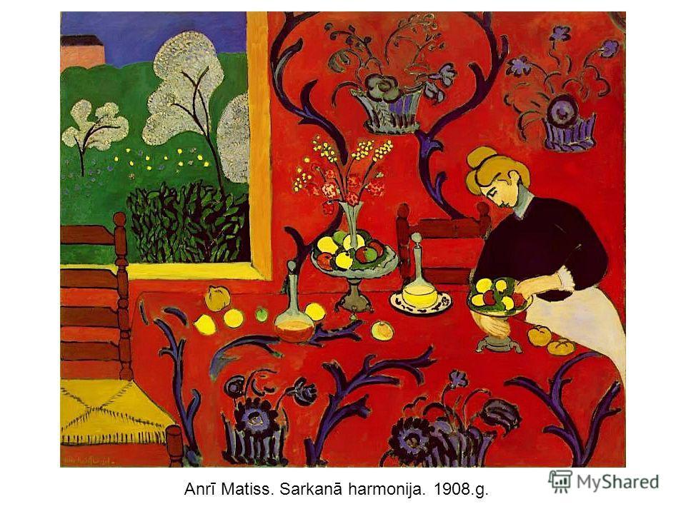 Anrī Matiss. Sarkanā harmonija. 1908.g.