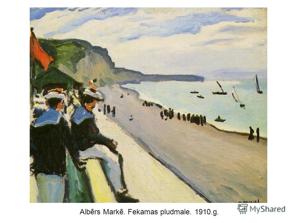 Albērs Markē. Fekamas pludmale. 1910.g.