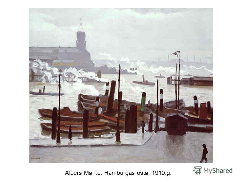 Albērs Markē. Hamburgas osta. 1910.g.