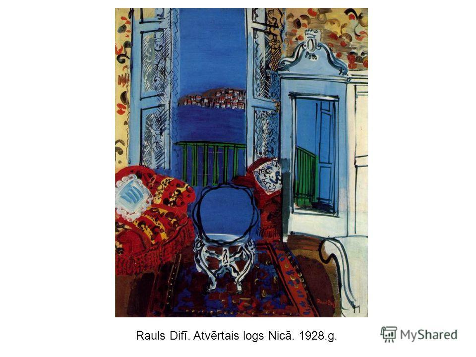 Rauls Difī. Atvērtais logs Nicā. 1928.g.