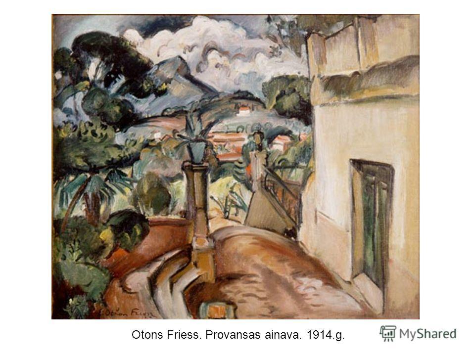 Otons Friess. Provansas ainava. 1914.g.