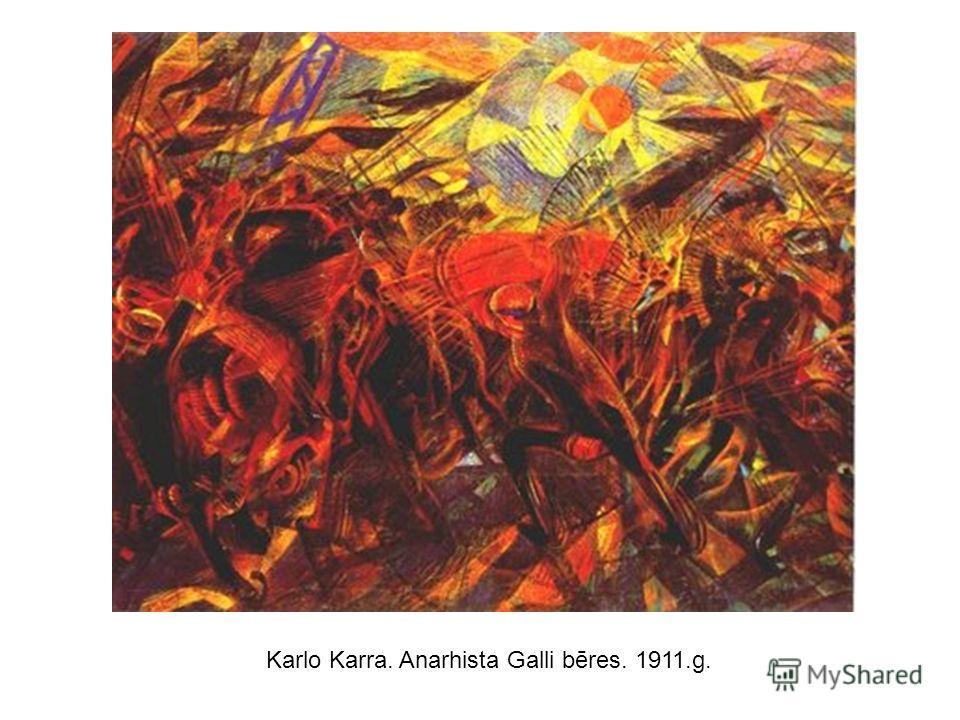 Karlo Karra. Anarhista Galli bēres. 1911.g.