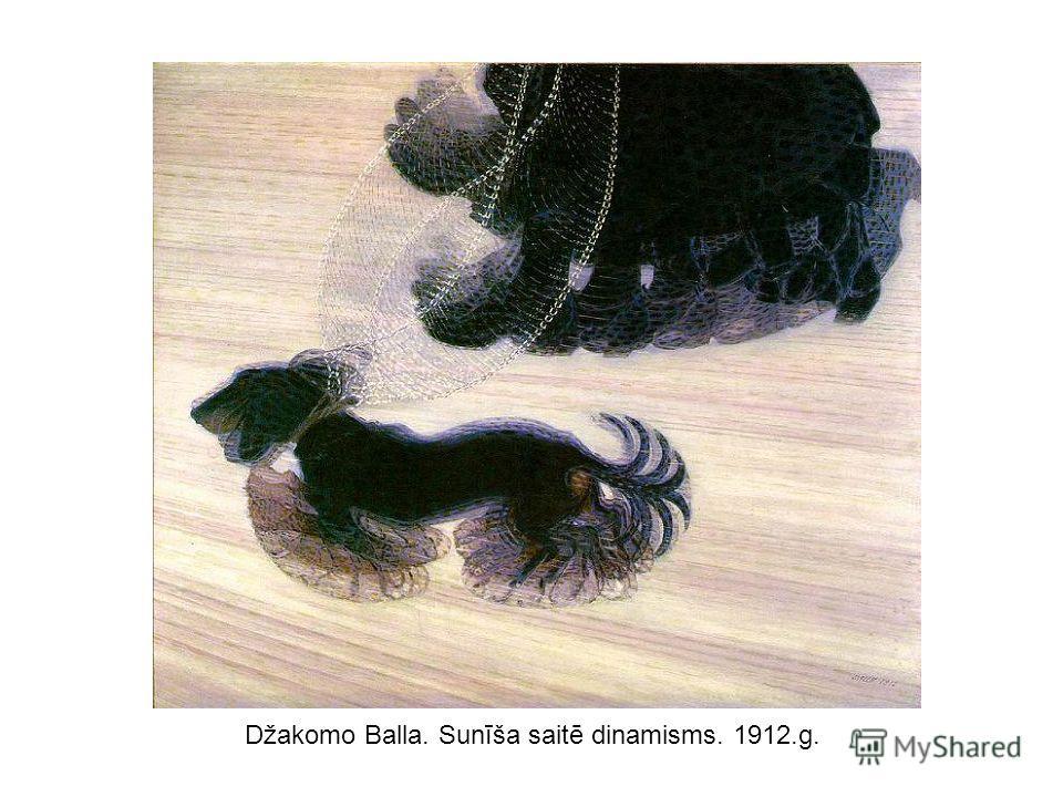 Džakomo Balla. Sunīša saitē dinamisms. 1912.g.