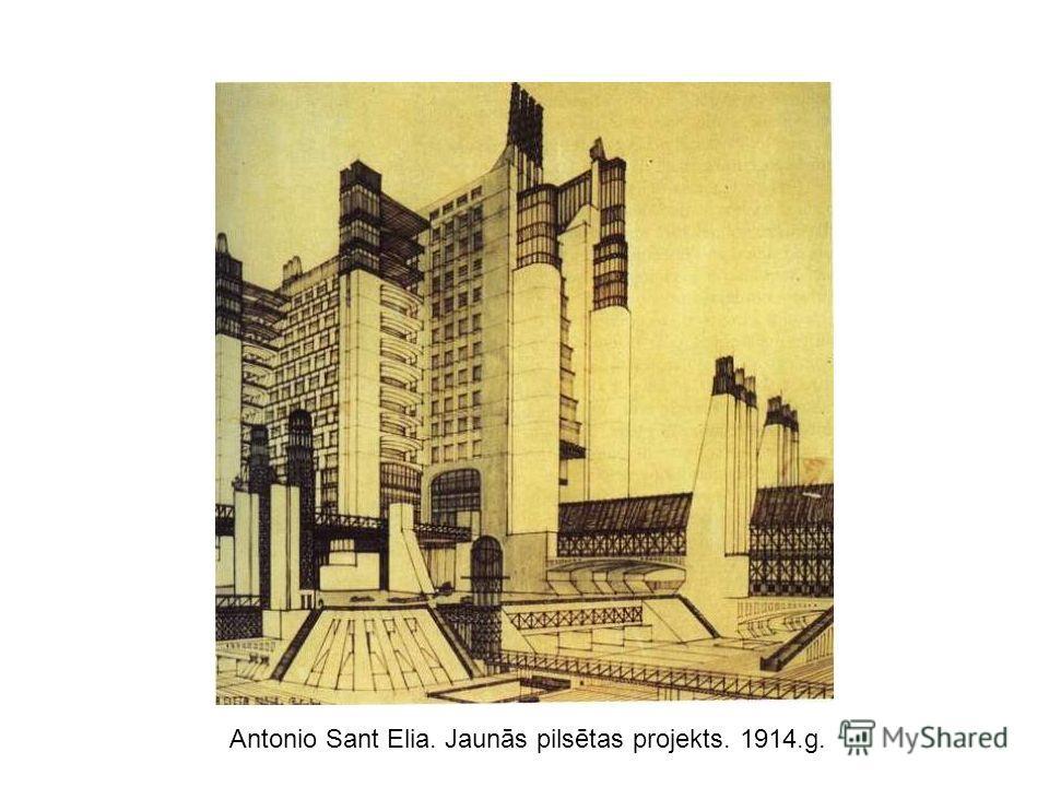 Antonio Sant Elia. Jaunās pilsētas projekts. 1914.g.