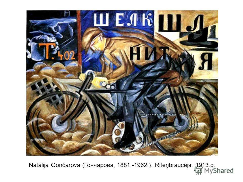 Natālija Gončarova (Гончарова, 1881.-1962.). Riteņbraucējs. 1913.g.
