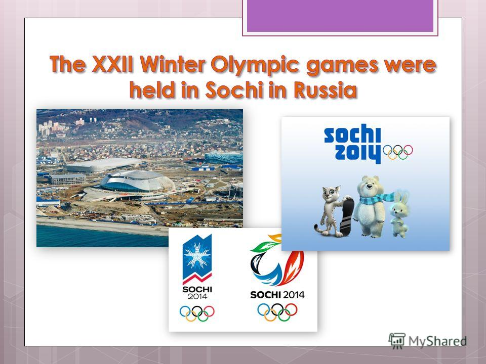 The Winter Olympic games in Sochi 2014