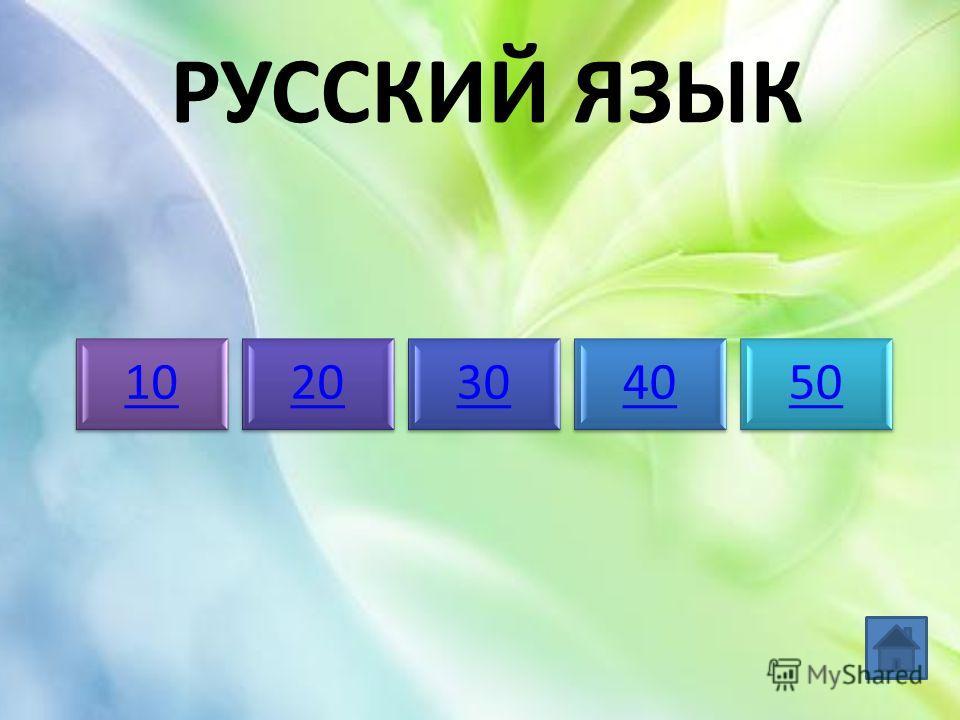РУССКИЙ ЯЗЫК 1020304050