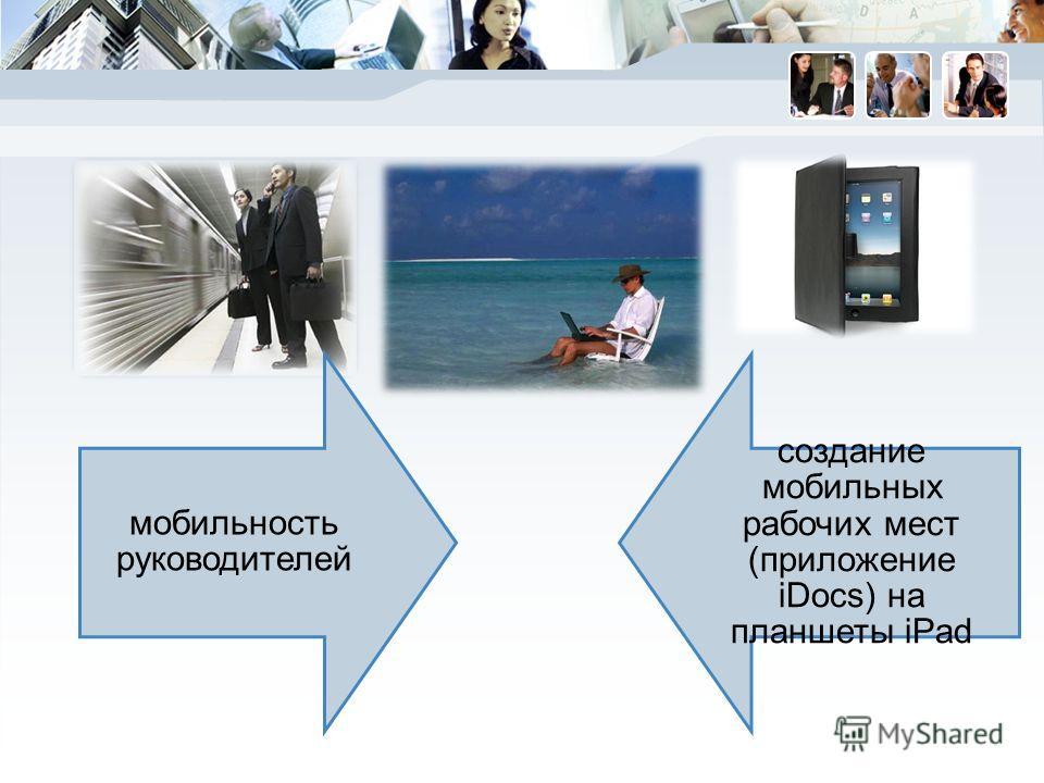 мобильность руководителей создание мобильных рабочих мест (приложение iDocs) на планшеты iPad