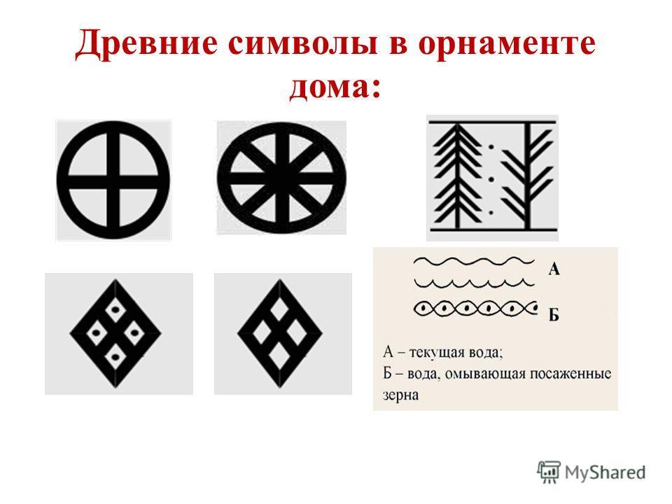 Древние символы в орнаменте дома:
