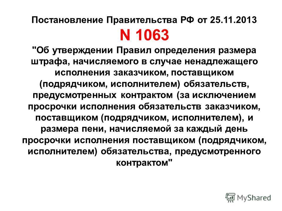 Постановление Правительства РФ от 25.11.2013 N 1063