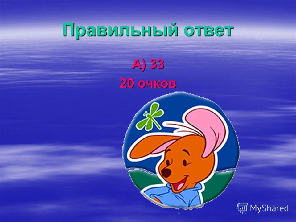 Вопрос 2 Сколько букв в русском алфавите? А) 33 Б) если считать с конца 35 В) пока сосчитать не удалось Г) 999
