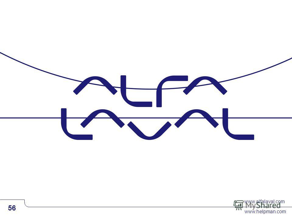www.alfalaval.com www.helpman.com 56 Slide 56