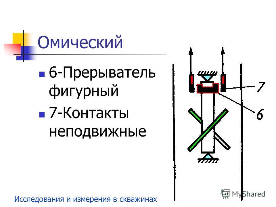 Исследования и измерения в скважинах Омический 6-Прерыватель фигурный 7-Контакты неподвижные