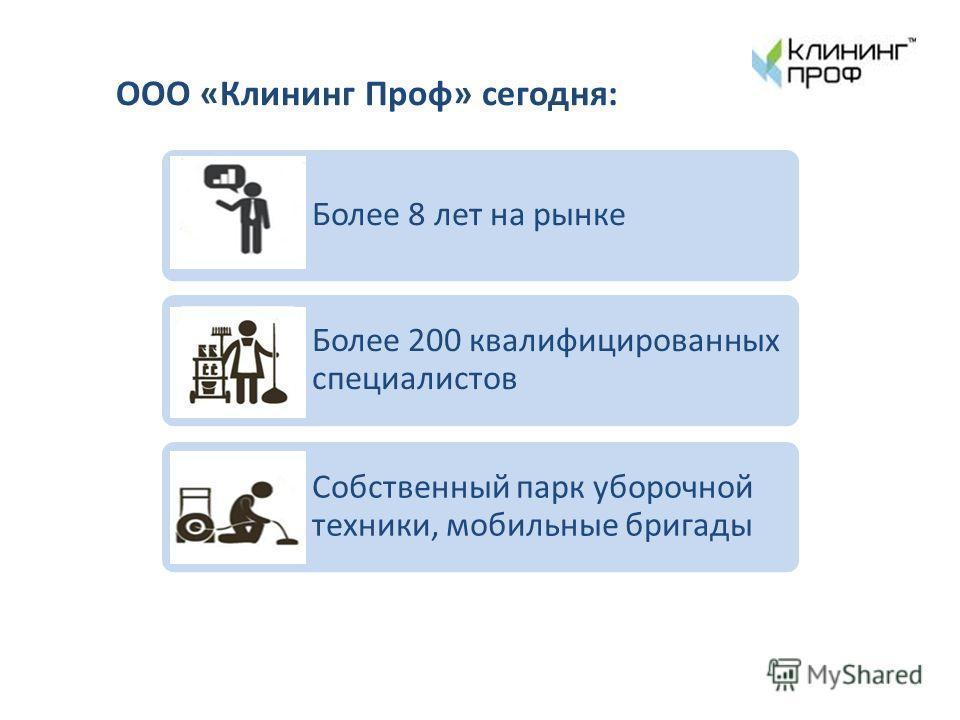 Более 8 лет на рынке Более 200 квалифицированных специалистов Собственный парк уборочной техники, мобильные бригады