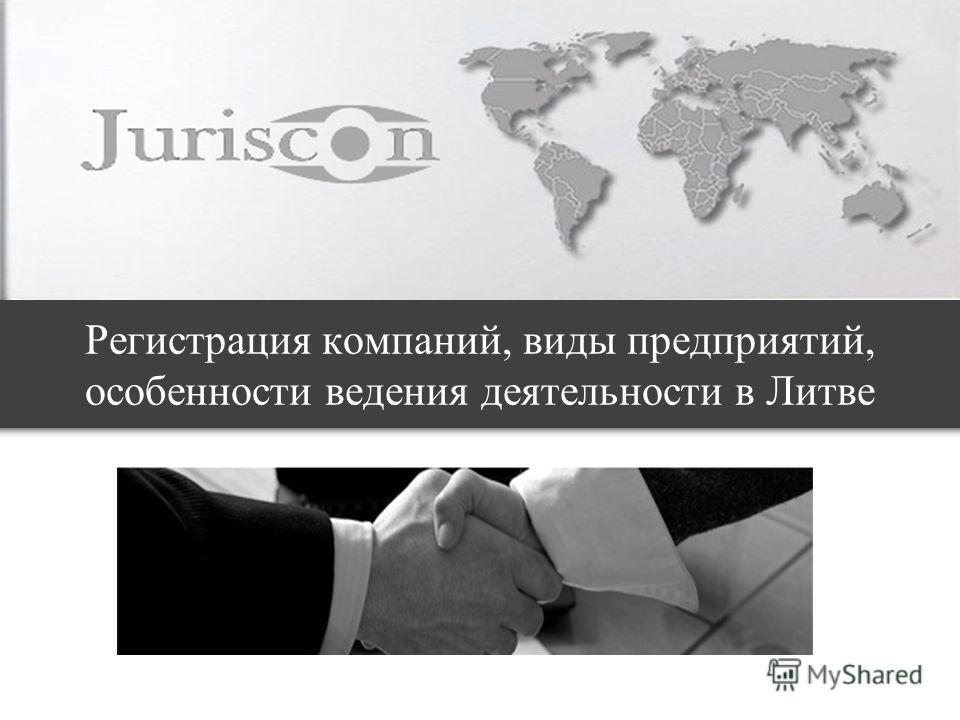 Регистрация компаний, виды предприятий, особенности ведения деятельности в Литве