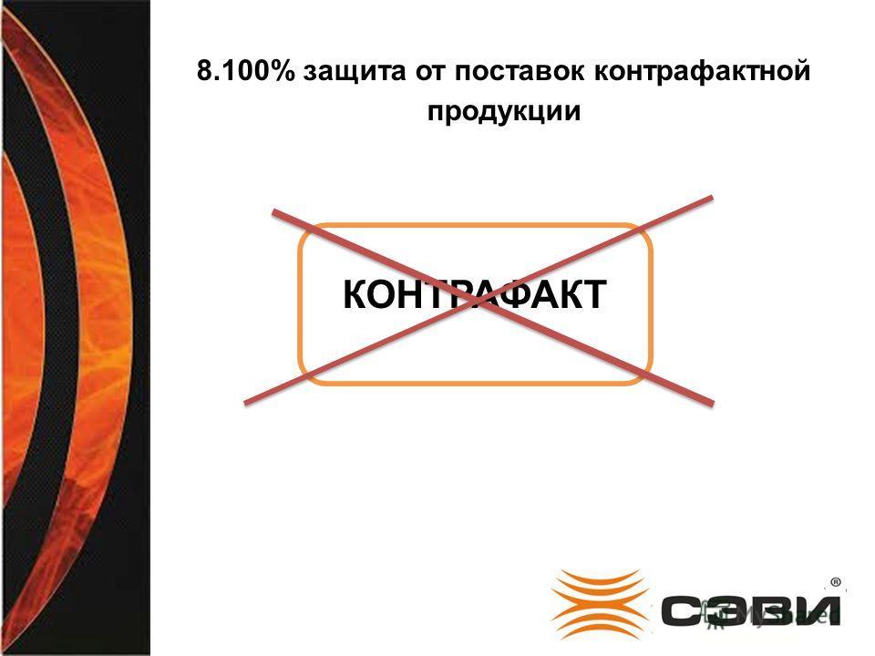 8.100% защита от поставок контрафактной продукции КОНТРАФАКТ
