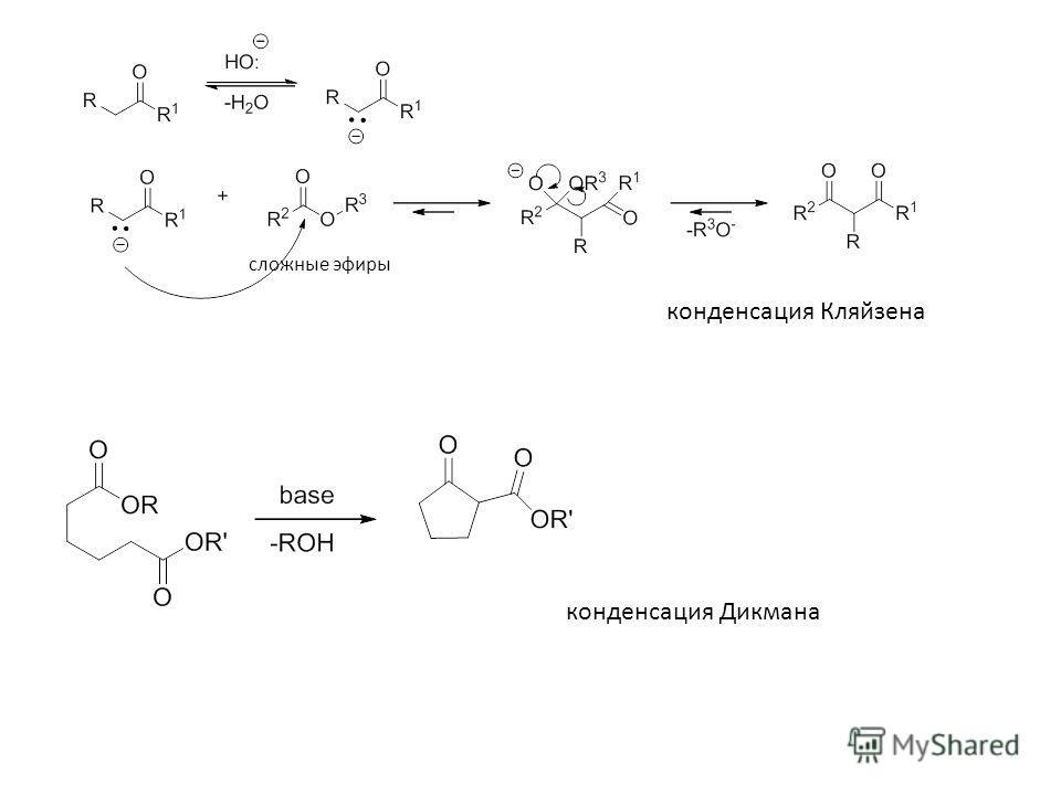 конденсация Кляйзена сложные эфиры конденсация Дикмана