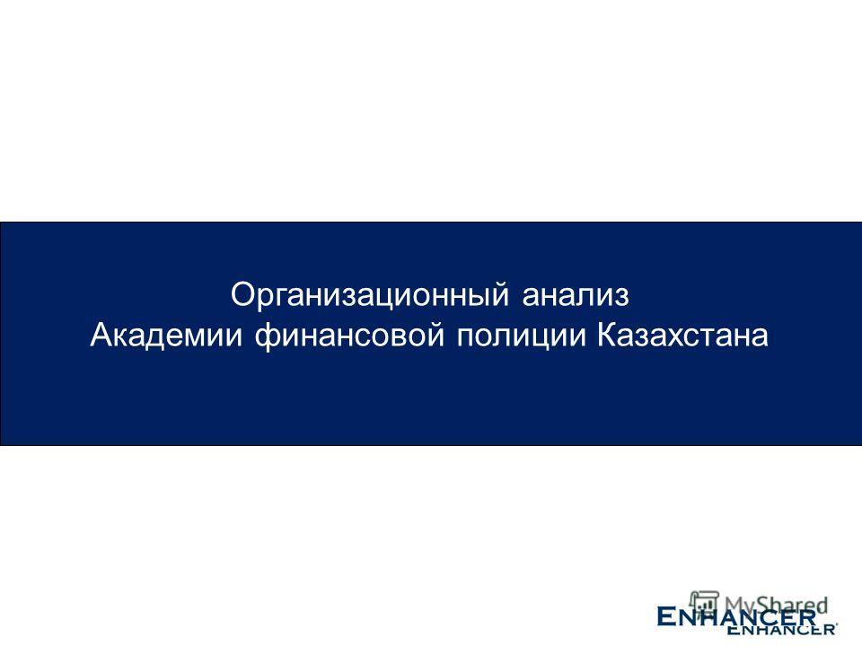 Организационный анализ Академии финансовой полиции Казахстана