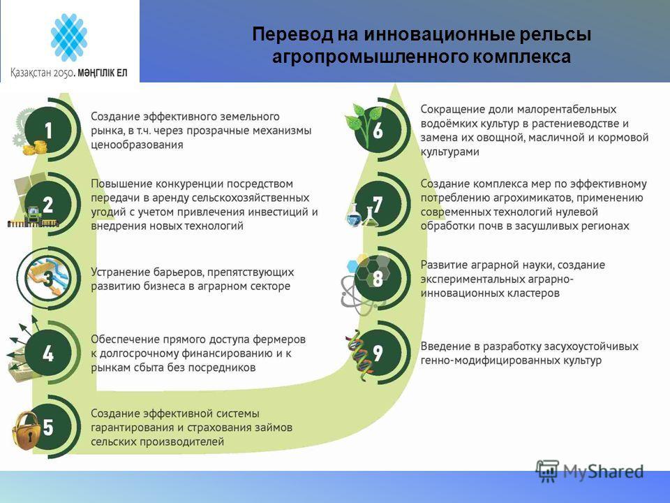 Перевод на инновационные рельсы агропромышленного комплекса