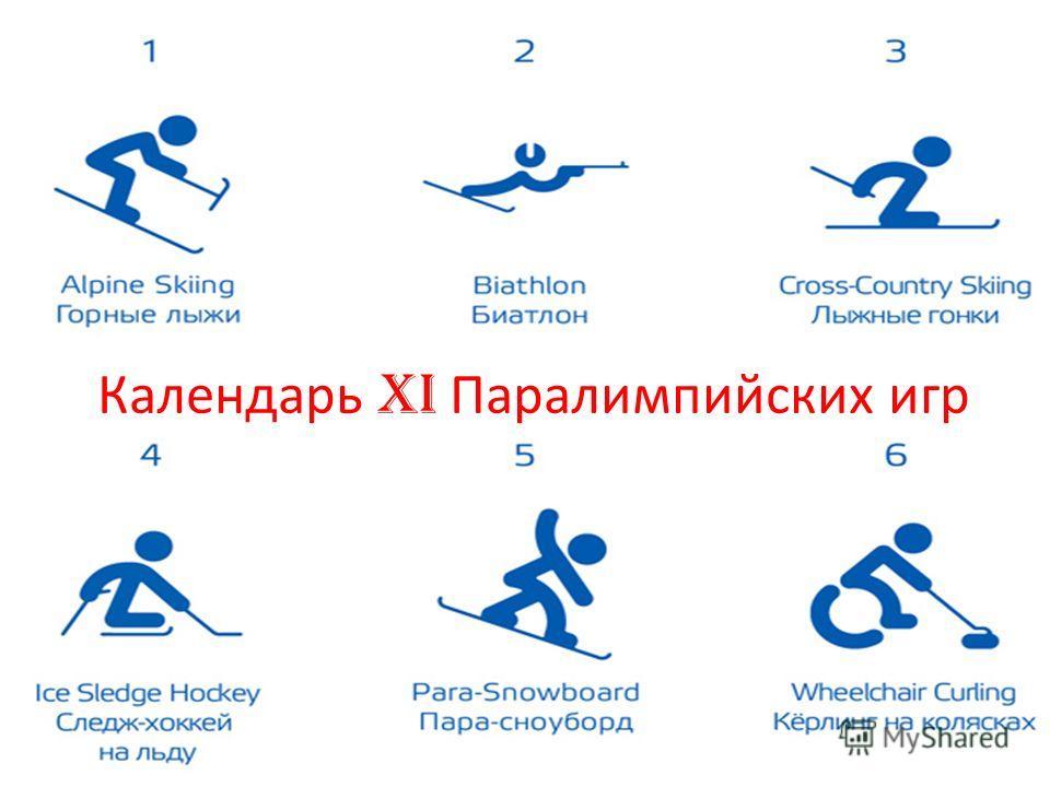 Календарь XI Паралимпийских игр