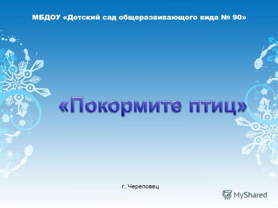 МБДОУ «Детский сад общеразвивающего вида 90» г. Череповец