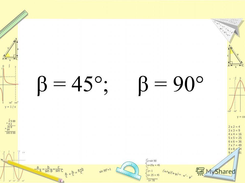 β = 45°; β = 90°